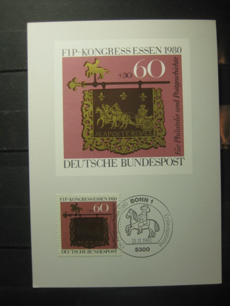 Maximumkarte Bundesrepublik Deutschland : FIP-Kongress Essen 1980