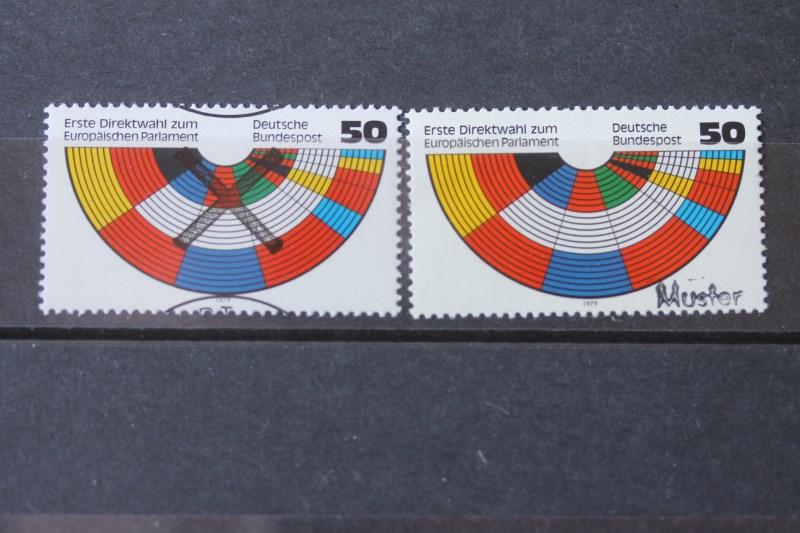 Europaparlament Bundesrepublik 1979 Andreaskreuz