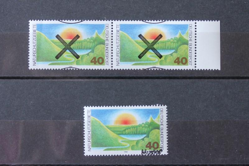 Naturschutzgebiete Bundesrepublik 1980 Andreaskreuz