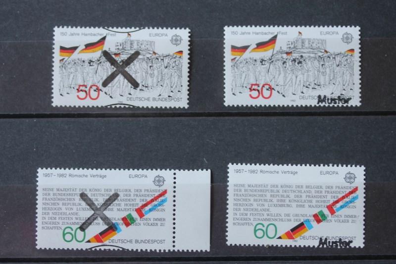 CEPT, EUROPA-UNION Bundesrepublik 1982 Andreaskreuz