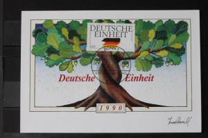 Maximumkarte Bundesrepublik Deutschland : Deutsche Einheit 1990