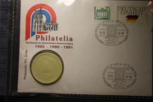 Numisbrief Philatelia Köln 1991 mit Porzellan-Medaille