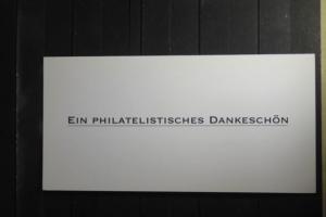 Deutsche Post, Dankeschön Karte 2012 mit Schwarzdruckmarke und Originalmarke