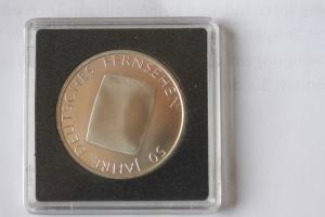 10 EURO Silbermünze 50 Jahre Deutsches Fernsehen, stg
