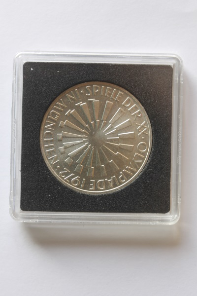 10 DM Silbermünze Olympiade 1972 in München; 1970 J, stg