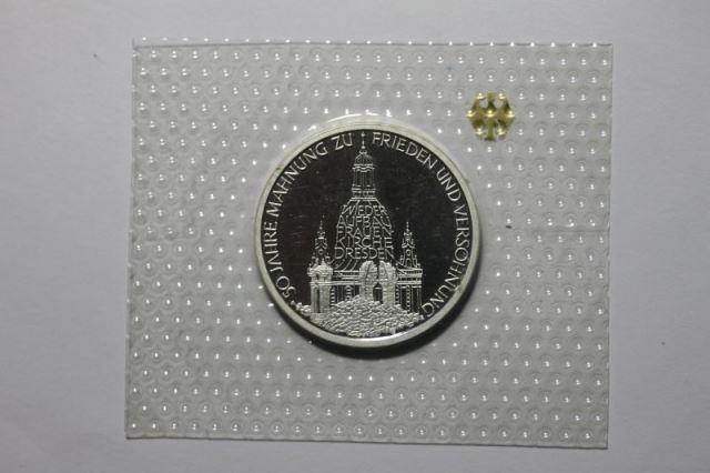 Wiederaufbau der Frauenkirche Dresden, 10 DM Silbermünze, Polierte Platte