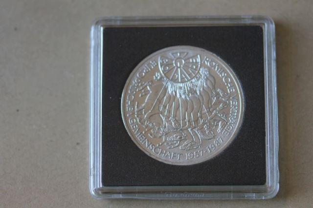 Europäische Gemeinschaft Römische Verträge  10 DM Silbermünze 1987, stg, Münze in besonderer Kapsel, siehe Fotos