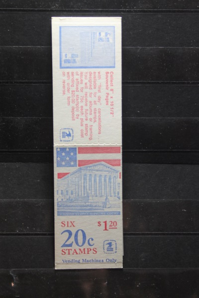 USA, Markenheft; 6 x 20 c