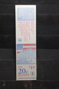 USA, Markenheft; 6 x 20 c