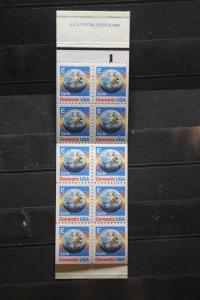 USA, Markenheft; 10 x Domestic, 1986