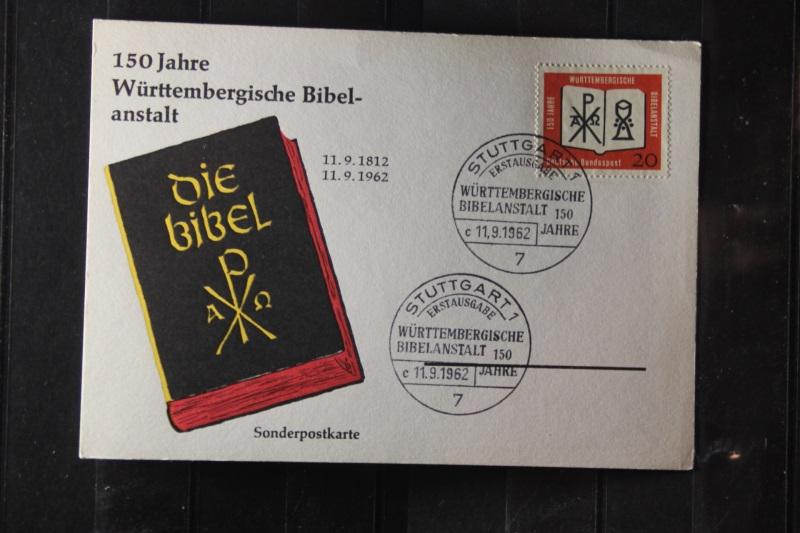 Württ. Bibelanstalt auf FDC-Karte