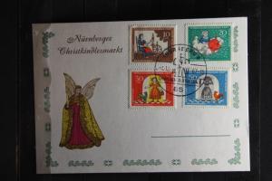 Wohlfahrt 1967 auf Karte Nürnberger Christkindlesmarkt