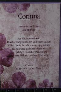 Corinna, Namenskarte, Geburtstagskarte, Glückwunschkarte, Personalisierte Karte