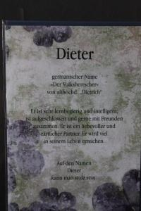 Dieter, Namenskarte, Geburtstagskarte, Glückwunschkarte, Personalisierte Karte