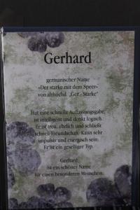 Gerhard, Namenskarte, Geburtstagskarte, Glückwunschkarte, Personalisierte Karte