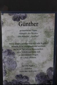 Günther, Namenskarte, Geburtstagskarte, Glückwunschkarte, Personalisierte Karte