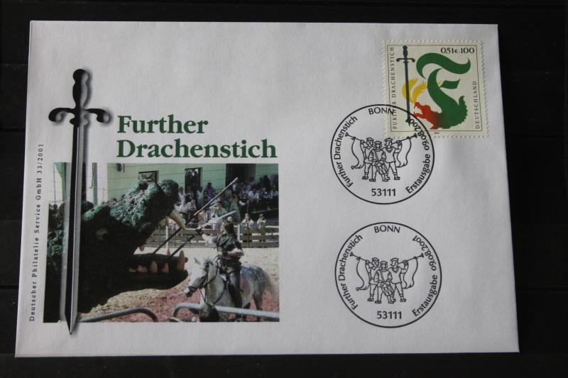 Ersttagsbrief Künstler- Ersttagsbrief FDC der Deutsche Postphilatelie: Further Drachenstich; 2001