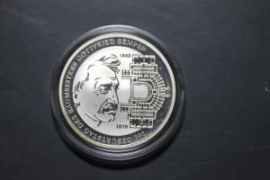 10 Euro Silbermünze Gottfried von Semper, Polierte Platte, PP