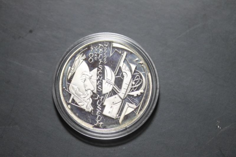 10 Euro Silbermünze Deutsches Museum, Polierte Platte, PP