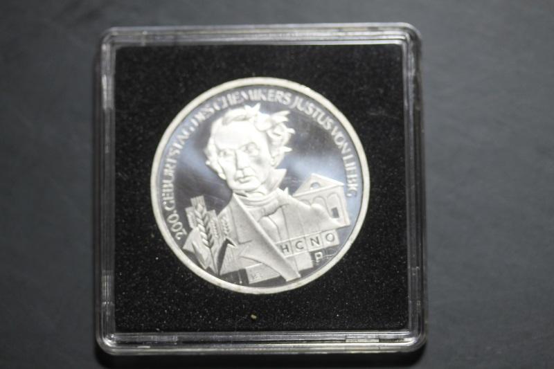 10 Euro Silbermünze  Justus von Liebig, stg