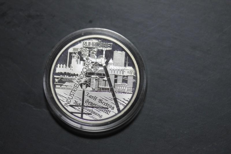 10 Euro Silbermünze Ruhrgebiet, Polierte Platte, PP