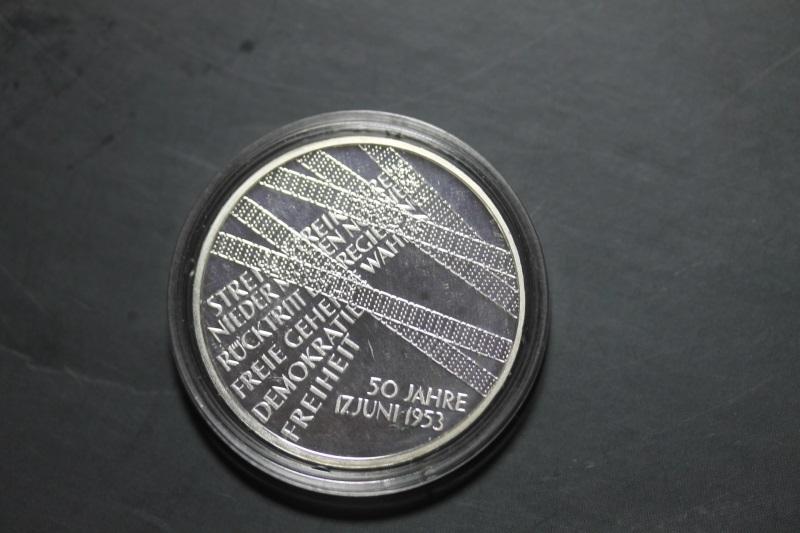 10 Euro Silbermünze 17. Juni 1953, Polierte Platte, PP