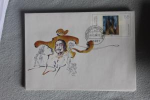 Umschlag mit Sonderwertstempel; USo 74; Salvador Dali, 2004