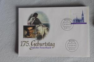 Umschlag mit Sonderwertstempel; USo 80; Anselm Feuerbach, 2004