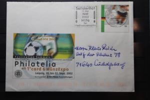Umschlag mit Sonderwertstempel; USo 42; Philatelia Leipzig 2002