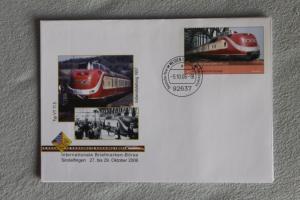Umschlag mit Sonderwertstempel; USo 123; Intern. Briefmarken-Börse Sindelfingen 2006