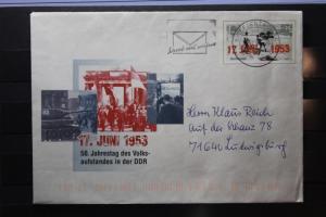 Umschlag mit Sonderwertstempel; USo 59; 17. Juni 1953