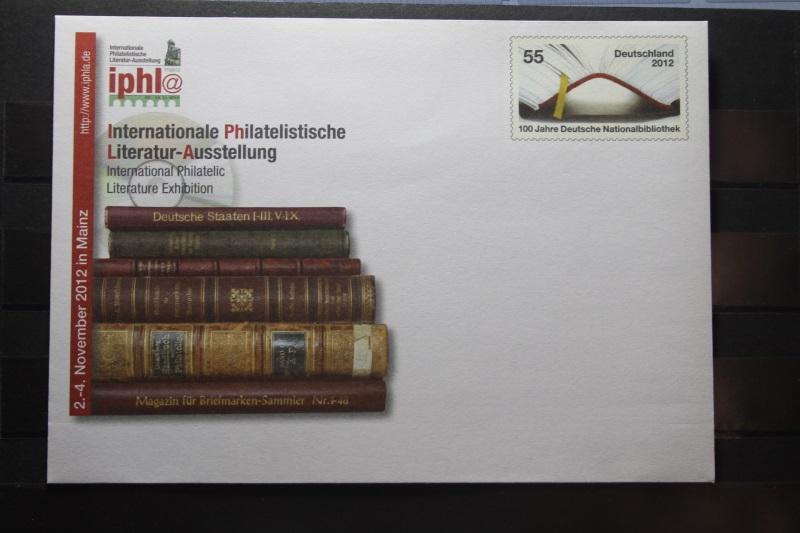 Umschlag mit Sonderwertstempel; USo 278; Intern. Philatelistische Literatur-Ausstellung 2012