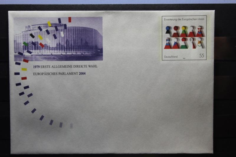 Umschlag mit Sonderwertstempel; USo 75, Direktwahl Europa-Parlament 2004 0