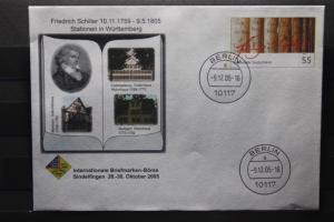 Umschlag mit Sonderwertstempel; USo 106; Intern. Briefmarken-Börse Sindelfingen 2005
