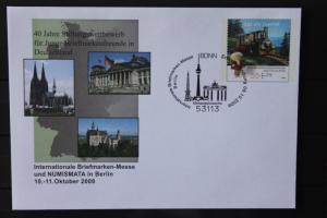 Umschlag mit Sonderwertstempel; USo 191, Intern. Briefmarken-Messe 2009 Berlin