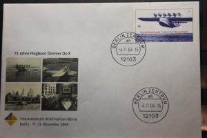 Umschlag mit Sonderwertstempel; USo 85; Intern. Briefmarken-Börse Berlin 2004