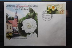 Umschlag mit Sonderwertstempel; USo 78; 200 Jahre Kamelien in Sachsen; 2004
