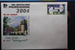 Umschlag mit Sonderwertstempel; USo 77; 105. Dt. Philatelistentag 2004