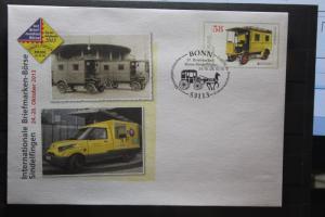 Umschlag mit Sonderwertstempel; USo 307; Intern. Briefmarken-Börse Sindelfingen 2013