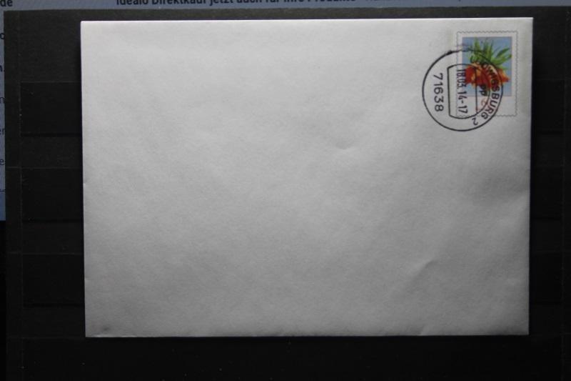 Umschlag mit Dauerwertstempel; U 43; Blumen