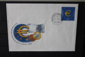 Umschlag mit Sonderwertstempel; USo 33; Euro-Bargeldeinführung 2002