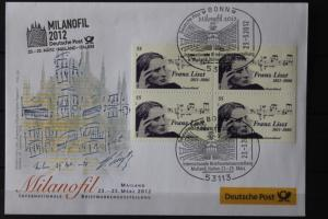 Messebrief, Ausstellungsbrief Deutsche Post: Internationale Briefmarken-Ausstellung  Milanofil 08, Mailand 2012