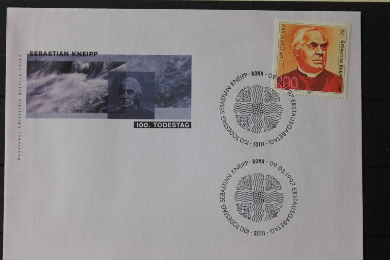 Ersttagsbrief Künstler- Ersttagsbrief FDC der Deutsche Postphilatelie: Sebastian Kneipp