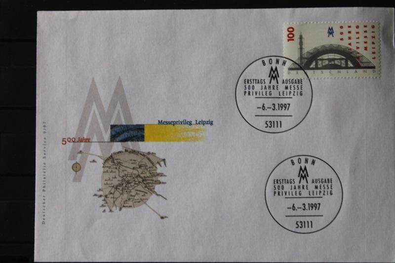 Ersttagsbrief Künstler- Ersttagsbrief FDC der Deutsche Postphilatelie: Leipziger Messe 1997