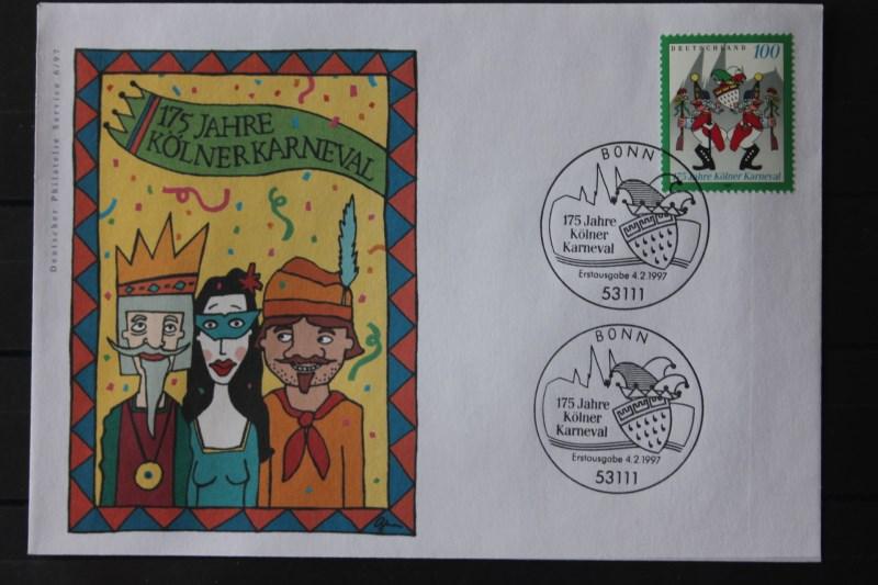 Ersttagsbrief Künstler- Ersttagsbrief FDC der Deutsche Postphilatelie: Kölner Karneval