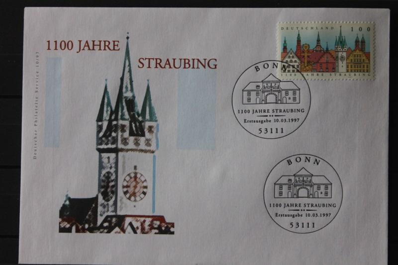 Ersttagsbrief Künstler- Ersttagsbrief FDC der Deutsche Postphilatelie: 1100 Jahre Straubing