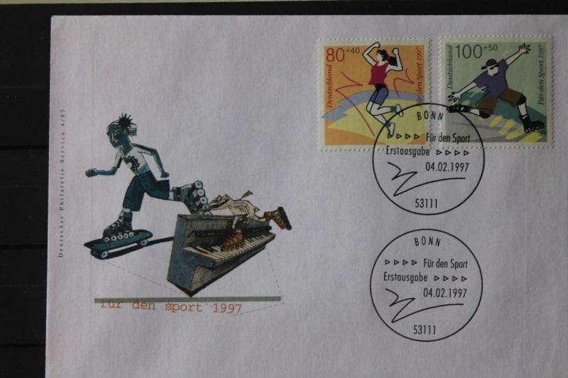 Ersttagsbrief Künstler- Ersttagsbrief FDC der Deutsche Postphilatelie: Für den Sport , 1997