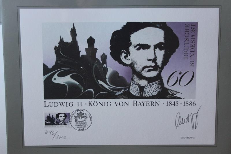 Künstleredition; Kunstgrafik: Ludwig II  König von Bayern von 1986; Handsigniert 0