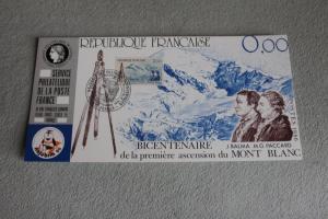 Ausstellungskarte der POSTE FRANCE: Najubria 86