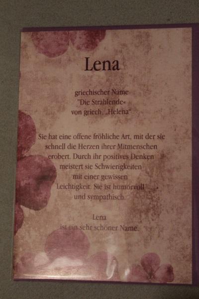 Lena, Namenskarte, Geburtstagskarte, Glückwunschkarte, Personalisierte Karte
